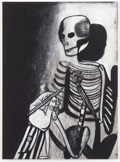 Tal R, 'At tegne skelet', 2016