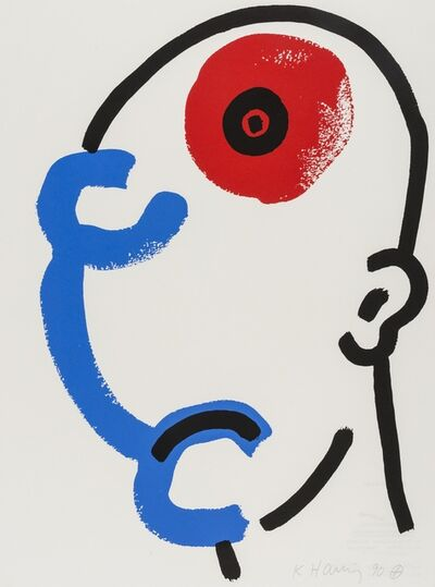 Keith Haring, 'The Story of Red and Blue (Littmann p.132)', 1989