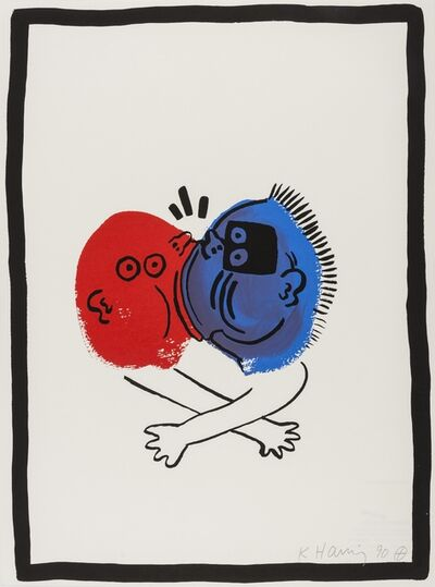 Keith Haring, 'The Story of Red and Blue (Littmann p.133)', 1989