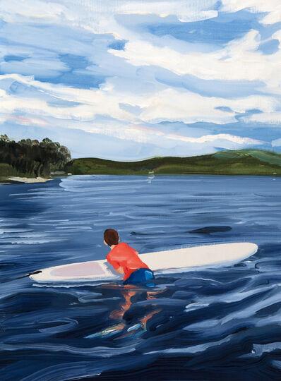 Sebastian Blanck, 'Paddle Boarding and Clouds', 2018