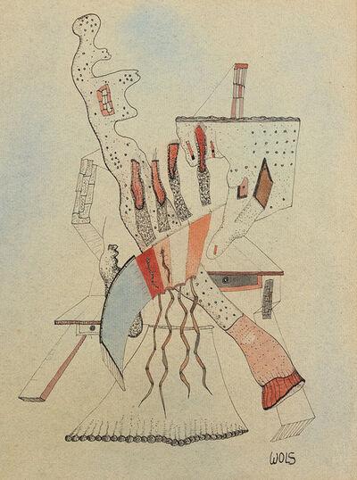 Wols, 'Personnage appuyé sur deux tables', 1940