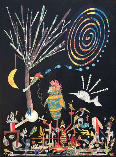 Lou Beach, 'Lucky Bird in a Magic Town (Tempest in a Tree Top)', 2018