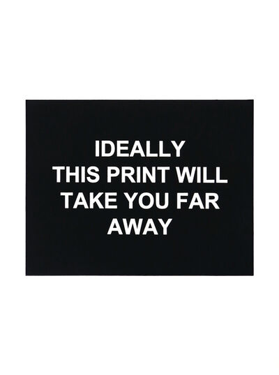 Laure Prouvost, 'Ideally this print will take you far away', 2016