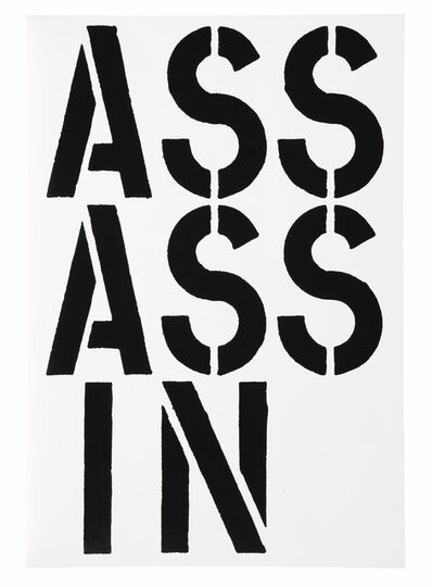 Christopher Wool, 'Assassin (Black Book)', 1989
