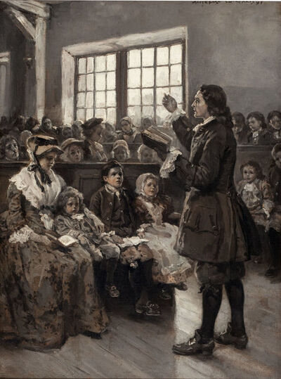 Alice Barber Stephens, 'John Wesley Teaching his Sunday School', 1897
