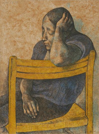 Francisco Zúñiga, 'Muchacha en una Silla', 1982