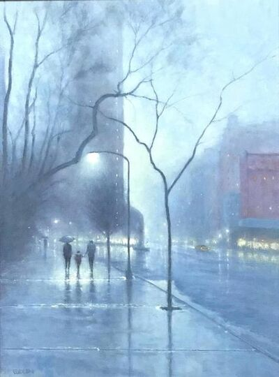 Michael Budden, 'Evening Rain Flatiron', 2019
