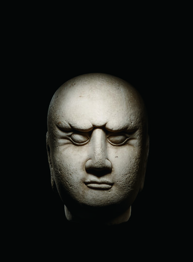 Unknown Chinese, 'A Large White Marble Head of a Luohan 宋 大理石羅漢首像', China: Shandong Province, Song Dynasty (960, 1279)