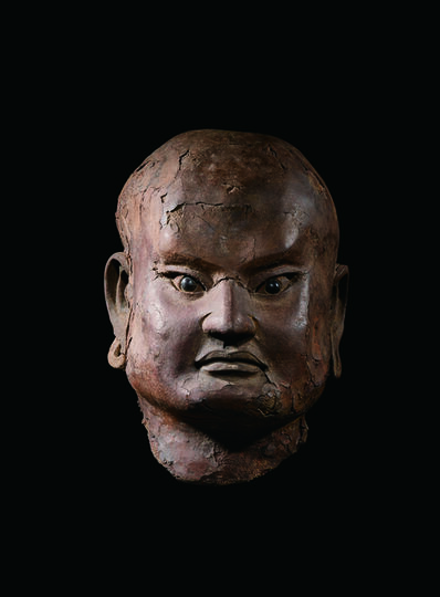 Unknown Artist, 'A Dry Lacquer Head of a Luohan 南宋 夾紵乾漆羅漢首像', China: Southern Song Dynasty (1128, 1279), stand