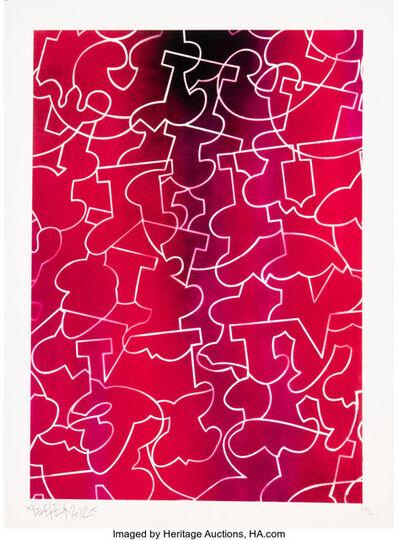Ben Eine, 'Purple', 2012