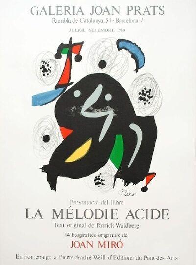 Joan Miró, 'Presentació del llibre La Mélodie Acide', 1980