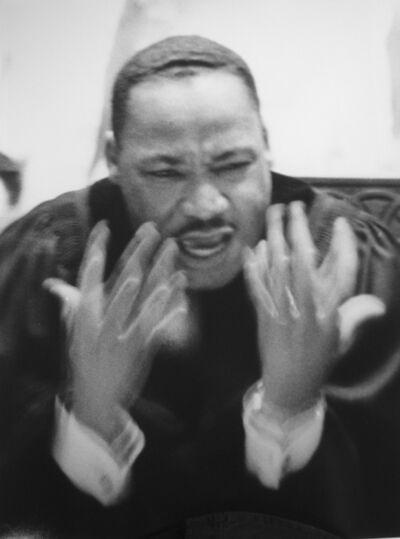 Flip Schulke, 'Dr. King preaching sermon at Ebenezer Baptist Church, Atlanta, Georgia', 1964-printed 2006