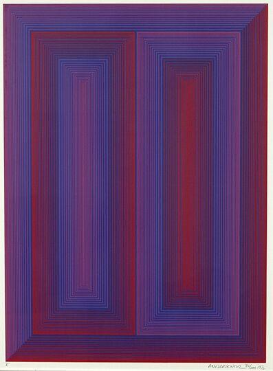 Richard Anuszkiewicz, 'Sequential X', 1972