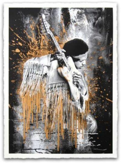 Mr. Brainwash, 'Jimi Hendrix (Gold)'