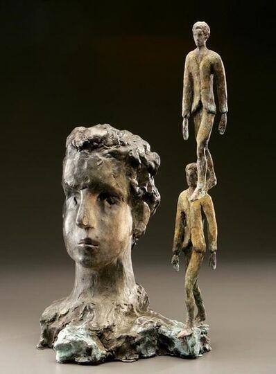 Roberto Barni, 'Testa con passo solidale', 2004