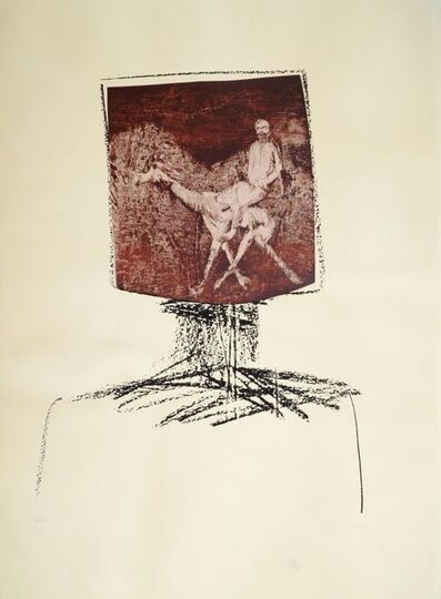 Sidney Nolan, 'Ned Kelly with Burke and Camel', 1965