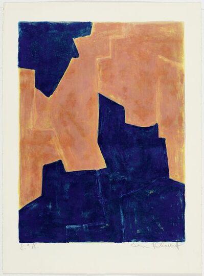 Serge Poliakoff, 'Composition bleue et orange', 1962