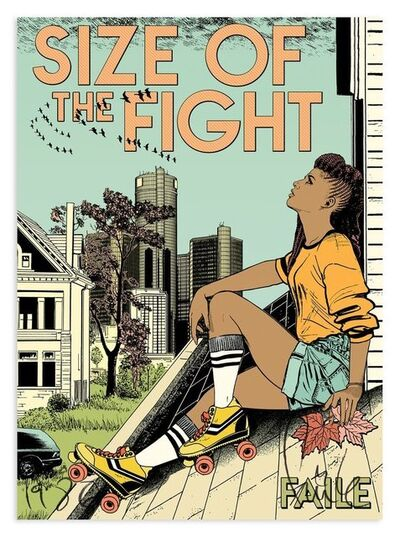FAILE, 'Size of the fight', 2017