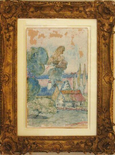 """Paul Gauguin, 'Les Chaumieres"""" (Breton Landscape) (Field 27)', 1894"""