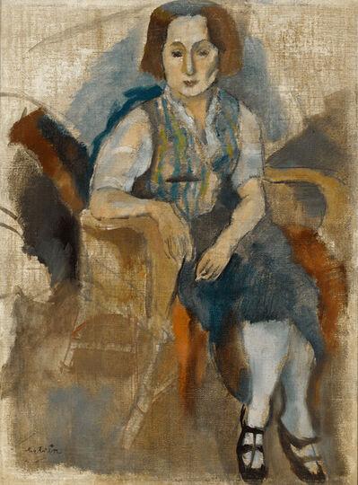 Jules Pascin, 'Femme aux Souliers Noir', ca. 1923