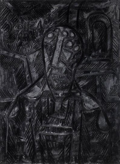 Francis Newton Souza, 'Bust of a man before an arched window', 1965