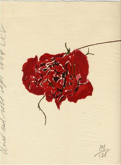 Donald Sultan, 'Dried Red Rose', 1994