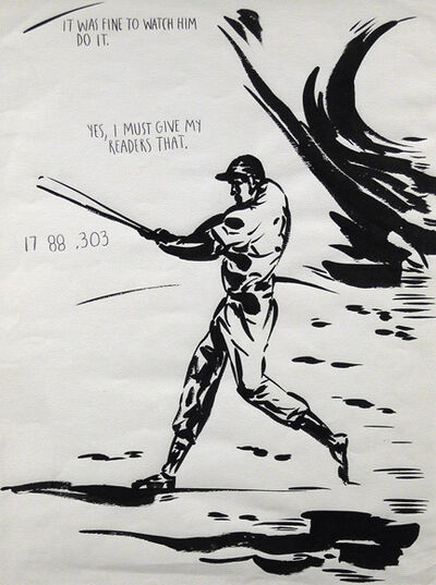 Raymond Pettibon, 'No Title (It was fine...)', 1991