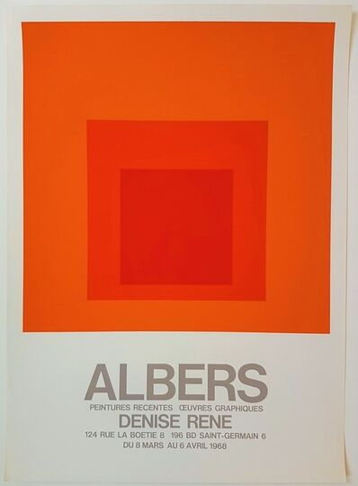 Josef Albers, 'Peintures Recentes - Oeuvres Graphiques at Gallery Denise Rene', 1968