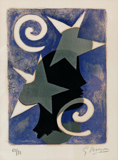 Georges Braque, 'Profil, page 10 from Lettera Amorosa', 1958-63