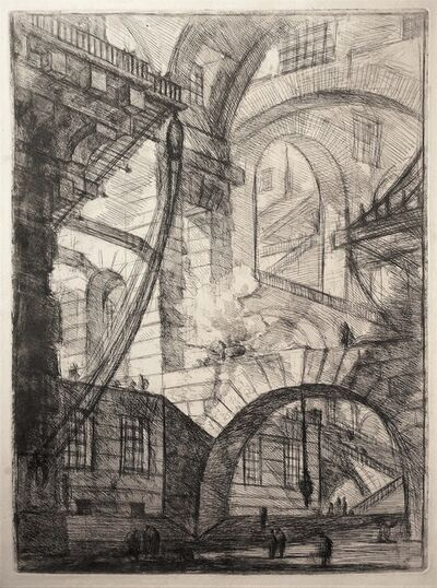 Giovanni Battista Piranesi, 'Perspective of Arches, with a Smoking Fire - 1st state', 1749