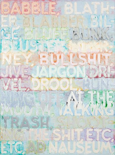 Mel Bochner, 'Babble', 2015