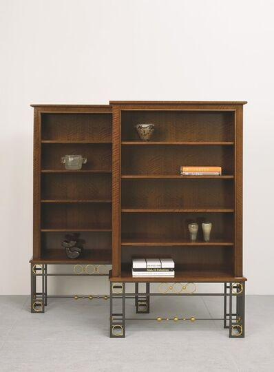 Maison Leleu, 'Pair of Bookcases', 1963