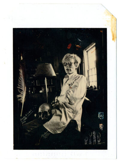 Peter Beard, 'Andy Warhol at Home with Skull 1972', 1990