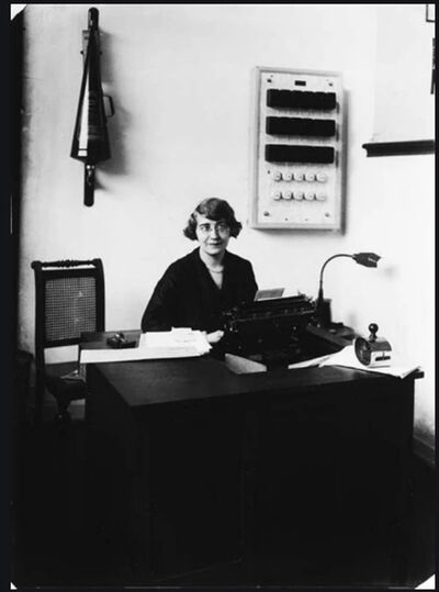 August Sander, 'Shorthand-typist at a Savings Bank, Koln ', 1928