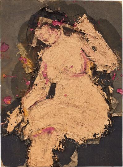 Manolo Valdés, 'Desnudo sobre fondo gris', 2011