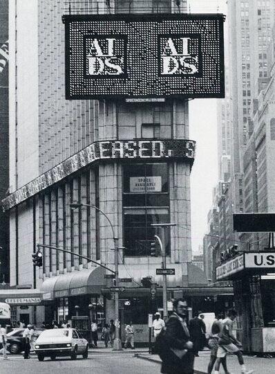 General Idea, 'Public Art Fund, Spectacolor Lightboard, Judite Dos Santos, Card, 1988 ', 1989