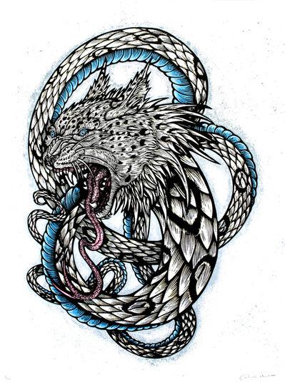 Dennis McNett, 'Wolfbat Leopard Snake (Silkscreen Print)', 2013