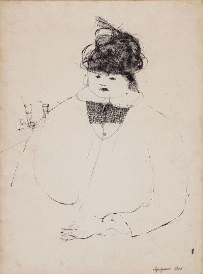 Renzo Vespignani, 'Figura di donna', 1945