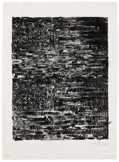 Jasper Johns, 'Two Flags (Black)', 1970-1972