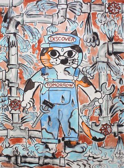 Nobuaki Takekawa, 'Cat Plumber', 2019