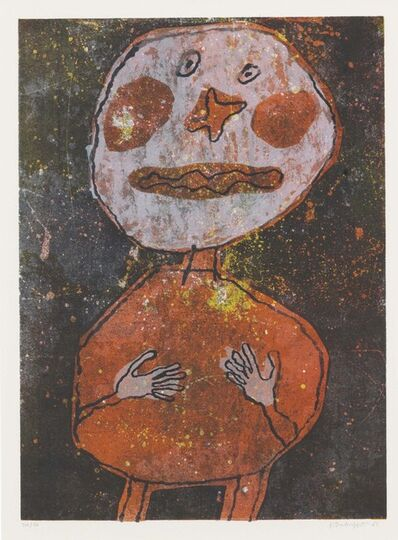 Jean Dubuffet, 'Personnage au Costume Rouge', 1961