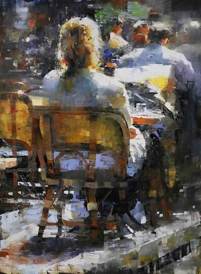 Mark Lague, 'Alone at a Paris Cafe', 2019