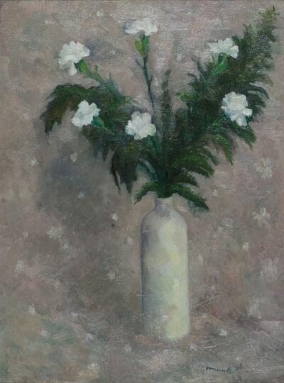 Giovanni Omiccioli, 'White flowers', 1957