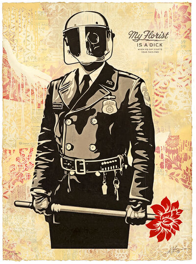 Shepard Fairey, 'My Florist is a Dick', 2019
