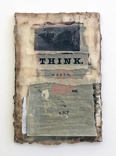 Melinda Stickney-Gibson, 'THINK', 2017