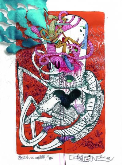 Alëxone Dizac, 'La Beast', 2014