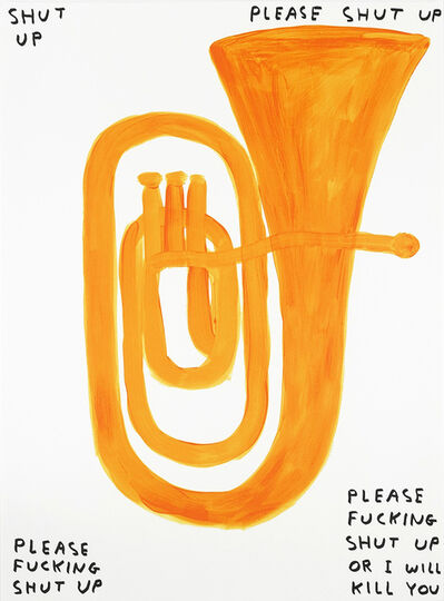 David Shrigley, 'Shut Up', 2018