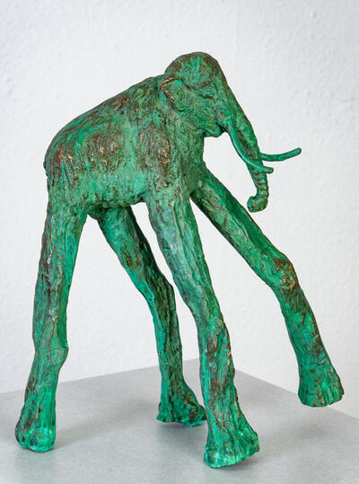 Joshua Goode, 'Bronze, hand cast, patinead sculpture: 'The Long Legged Mammoth'', 2019