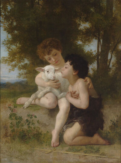 William-Adolphe Bouguereau, 'Les Enfants à L'Agneau', 1879