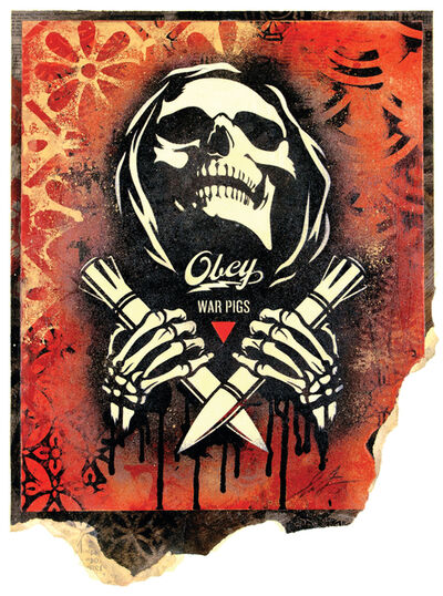 Shepard Fairey, 'Electric Funeral Fire', 2018